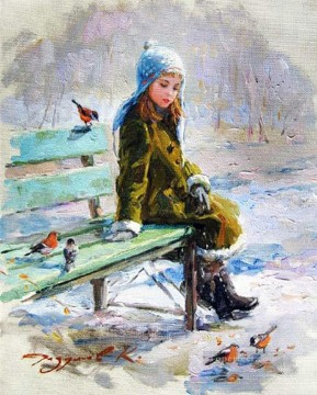 Animal Painting - Birds Girl KR 054 pet kids
