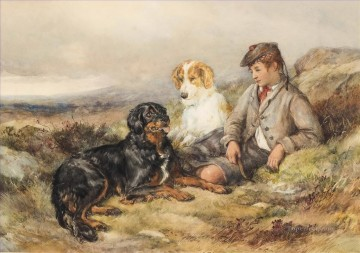 Animal Painting - Good companions Heywood Hardy pet