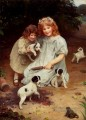 An Uninvited Guest idyllic children Arthur John Elsley pet kids