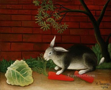 Animal Painting - rabbit 1908 Henri Rousseau
