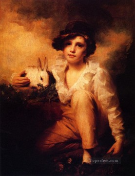 Rabbit Painting - Boy And Rabbit Scottish portrait painter Henry Raeburn