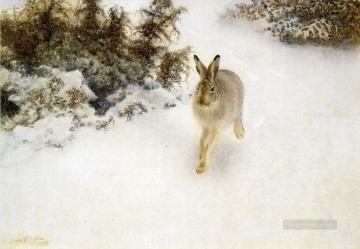 Winter Hare Oil Paintings