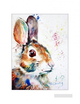 bunny splatter Oil Paintings