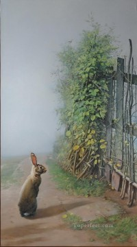 Animal Painting - homeland bunny