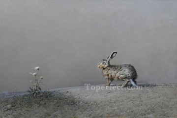 when wind blows bunny Oil Paintings