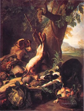 classical dog hare and still life Oil Paintings