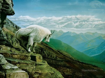 Heavens Gate Mountain Goat Oil Paintings