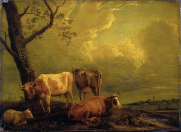 Potter Paulus Cattle and Sheep Oil Paintings
