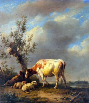 Animal Painting - The Shepherds Rest