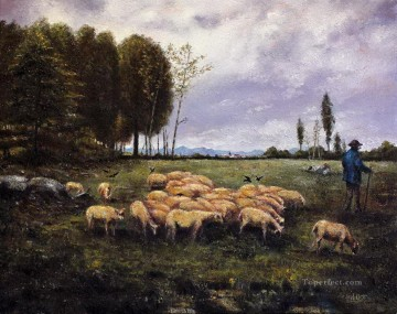 Alexander Ignatius Roche The Shepherd 1886 Oil Paintings