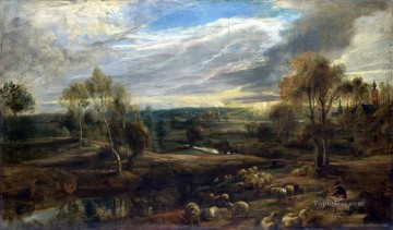 RUBENS Peter Paul A Landscape with a Shepherd and his Flock Oil Paintings