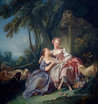 Animal Painting - The Love Letter Francois Boucher sheep