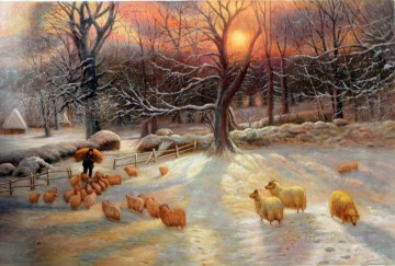 sheep 5 Oil Paintings