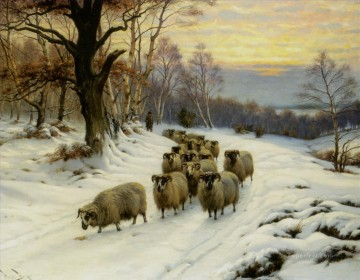 shepherd in winter Oil Paintings