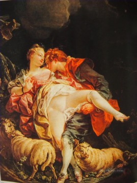 unknown sexy touch and sheep Francois Boucher Oil Paintings