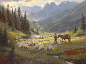 Animal Painting - He Leadeth Me Keathley sheep