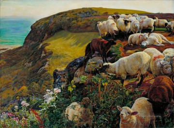 Animal Painting - William Holman Hunt Our English Coasts 1852 sheep