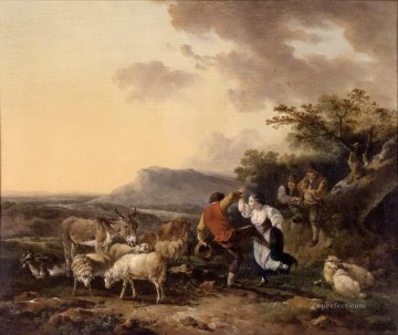 shepherd and shepherdess dance Oil Paintings