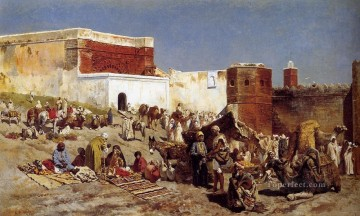 Moroccan Market Rabat Arabian Edwin Lord Weeks Oil Paintings