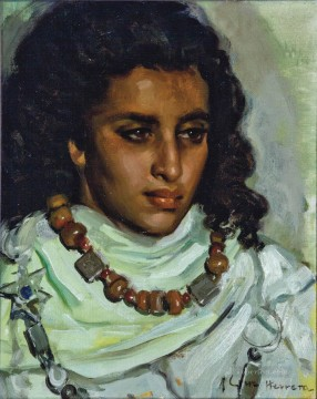 Arab Painting - A Moroccan Beauty Jose Cruz Herrera genre Araber