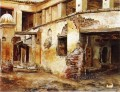 Courtyard in Morocco Arabian Edwin Lord Weeks