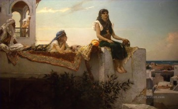 Arab Painting - Evening on the Terrace Jean Joseph Benjamin Constant Araber