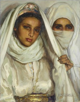 Fatma y Fatima Jose Cruz Herrera genre Araber Oil Paintings