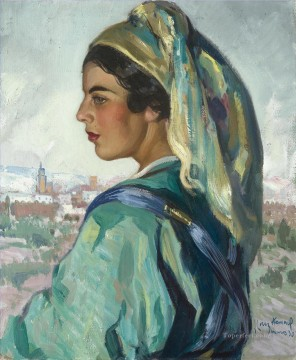 Arab Painting - GIRL FROM MARRAKESH Jose Cruz Herrera genre Araber