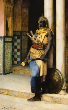 Arab Painting - Guarding the Palace Ludwig Deutsch Orientalism Araber