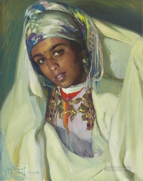 JEUNE FEMME BERBERE Jose Cruz Herrera genre Araber Oil Paintings