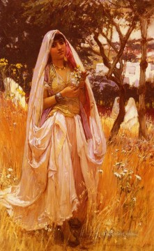 La Jeune mauresque Campagne DAlgiers Arabic Frederick Arthur Bridgman Oil Paintings