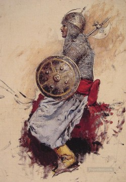 Arab Painting - Man in Armour Arabian Edwin Lord Weeks