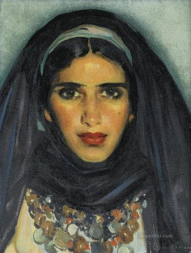 PORTRAIT DE JEUNE MAROCAINE Jose Cruz Herrera genre Araber Oil Paintings