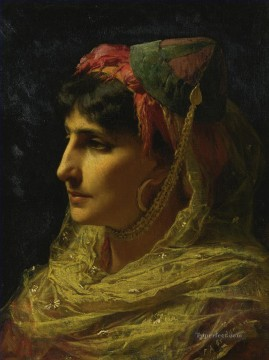 Arab Painting - PORTRAIT OF A WOMAN Frederick Arthur Bridgman Arab