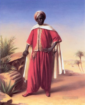 Portrait of an Arab Horace Vernet Oil Paintings