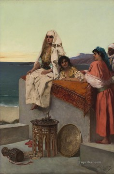 Questions of Provenance Evening on the Seashore Jean Joseph Benjamin Constant Araber Oil Paintings