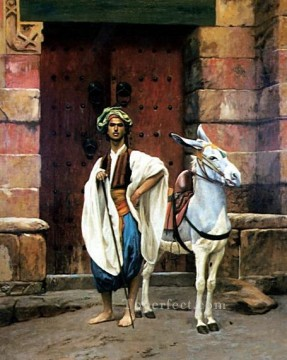 Arab Painting - Sais and his Donkey Arab Jean Leon Gerome