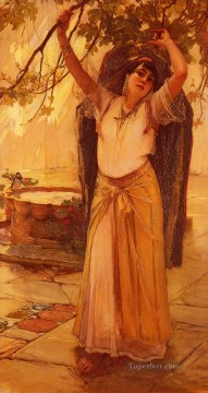 Arabic Oil Painting - Spanish Lady Arabic Frederick Arthur Bridgman