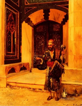 Arab Painting - The Beggar Arabian painter Rudolf Ernst