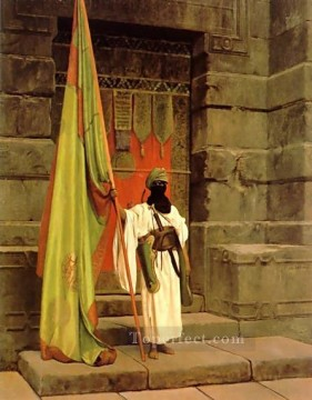 The Standard Bearer Arab Jean Leon Gerome Oil Paintings