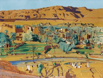 Tinghir Todra Jacques Majorelle Orientalist Modernist Araber Oil Paintings