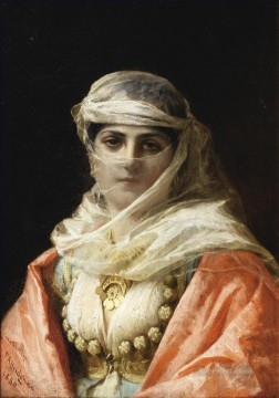 Arab Painting - YOUNG WOMAN FROM CONSTANTINOPLE Frederick Arthur Bridgman Arab