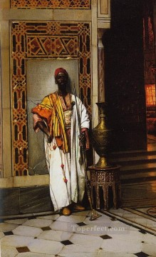 leaning warrior Ludwig Deutsch Orientalism Araber Oil Paintings