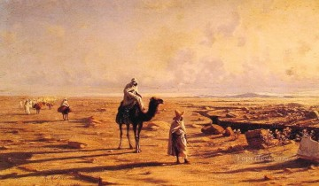 Artworks in 150 Subjects Painting - migrate Arabs in desert middle east