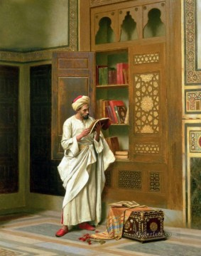 scholar Ludwig Deutsch Orientalism Araber Oil Paintings
