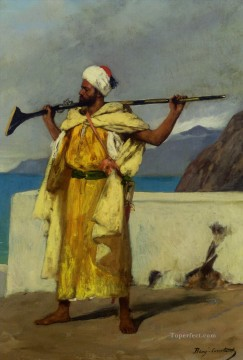 the warrior Jean Joseph Benjamin Constant Araber Oil Paintings