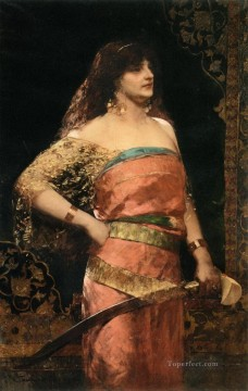 Arab Painting - woman warrior Jean Joseph Benjamin Constant Araber