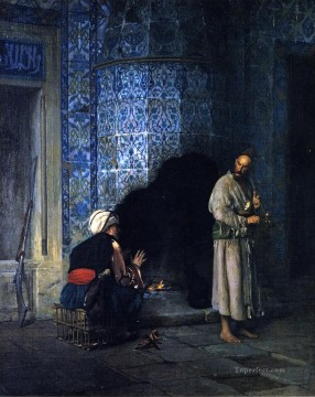 Arab Painting - A Chat by the Fireside Arab Jean Leon Gerome