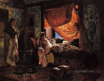 Arab Painting - A Moorish Interior Arabian painter Rudolf Ernst
