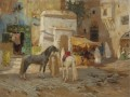 AT REST OUTSIDE THE CITY WALLS Frederick Arthur Bridgman Arab